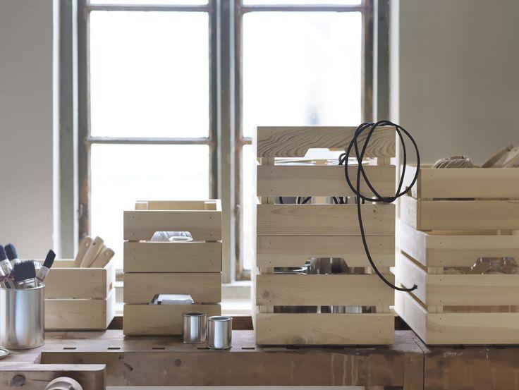 Cassette di legno usate per arredare dove trovarle for Cassette di legno ikea