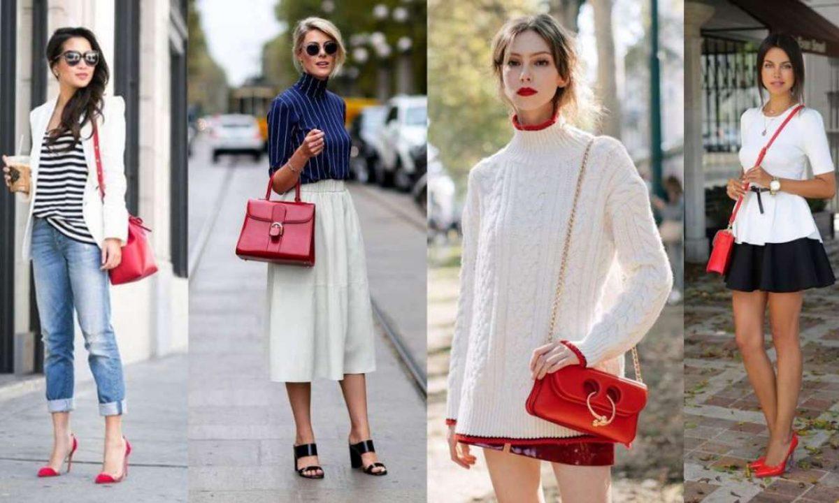 Come abbinare la borsa rossa, gli outfit più belli (Foto