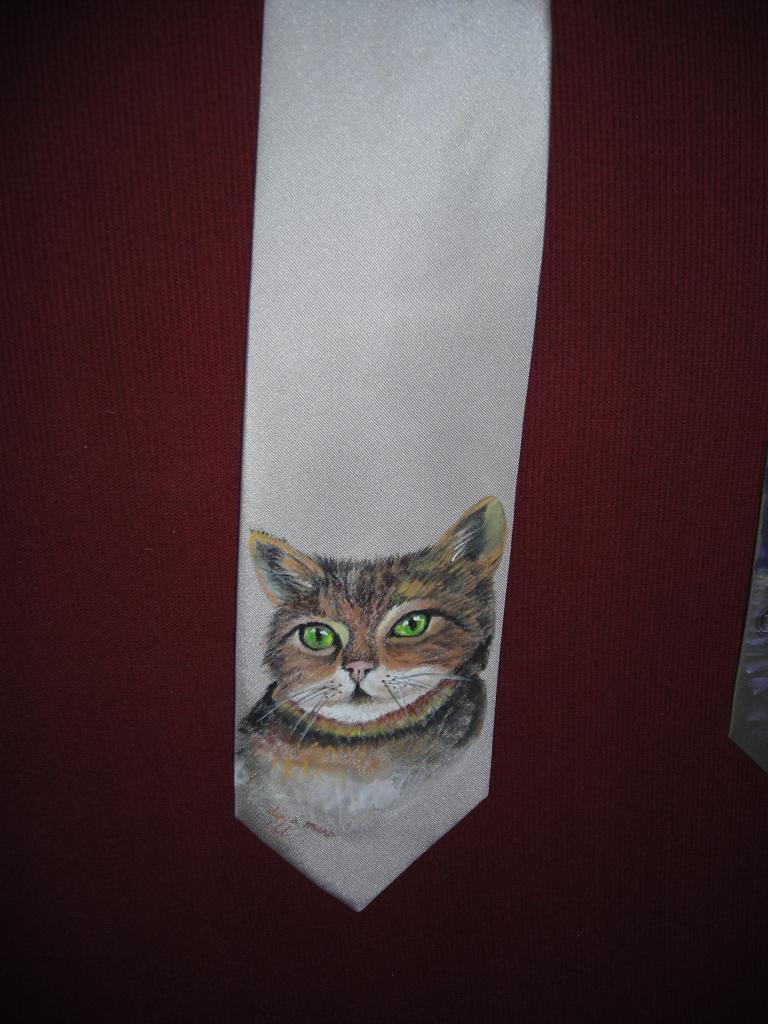 cravatta dipinta a mano