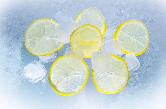 ghiaccio limone fissa trucco