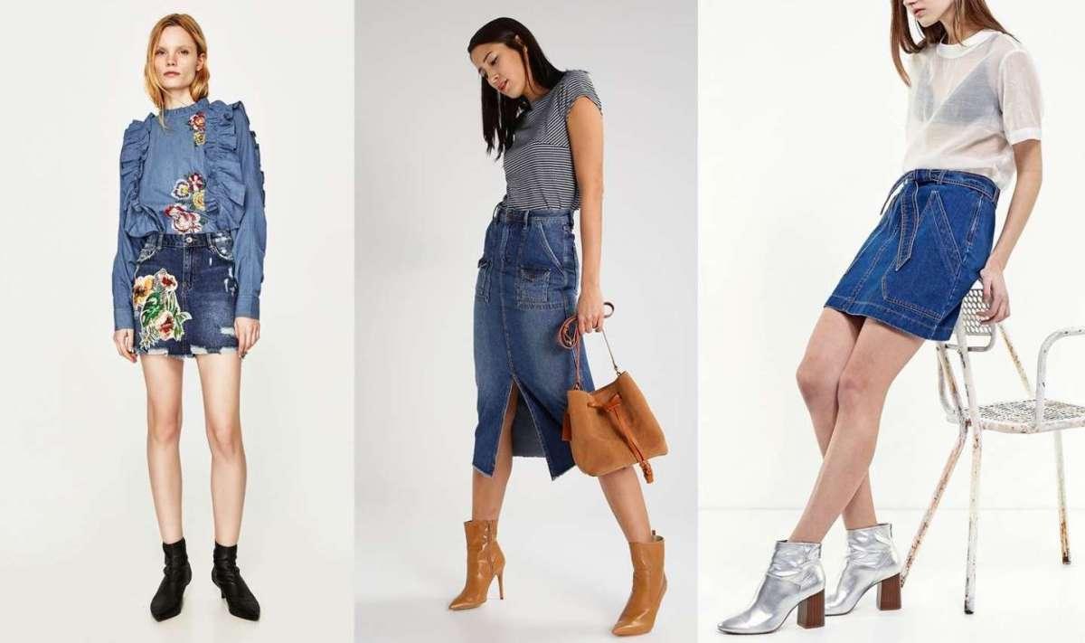 Gonne di jeans, i must have dalle nuove collezioni Primavera/Estate 2017 [FOTO]