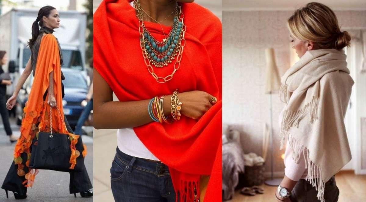 Come indossare la pashmina  consigli di stile  FOTO   55737e2a4865