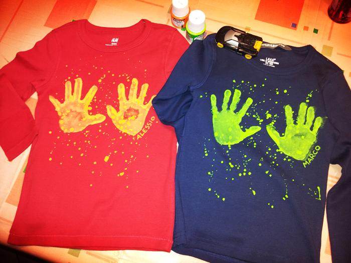 magliette con impronte