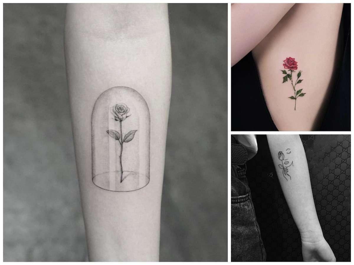 Tatuaggio Con Rosa Le Idee Più Belle E Romantiche Foto Pourfemme