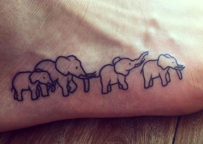 tatuaggio famiglia animali