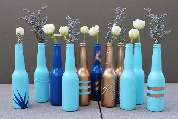 Bottiglie come vasi