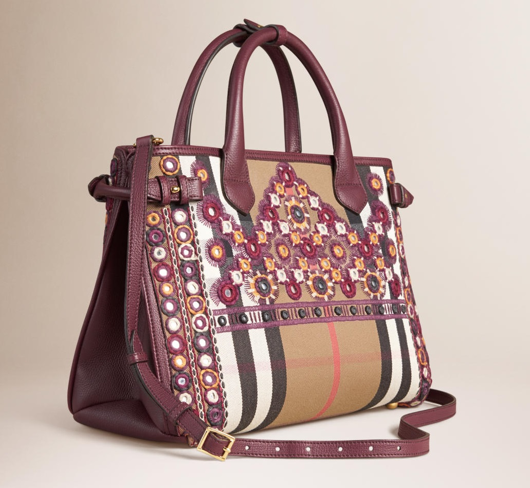Handbag con applicazioni