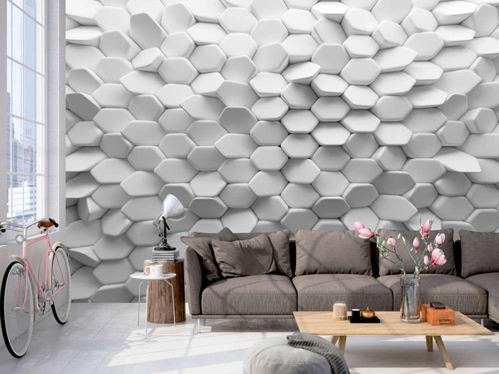 carta da parati 3d le idee pi belle e originali foto pourfemme. Black Bedroom Furniture Sets. Home Design Ideas