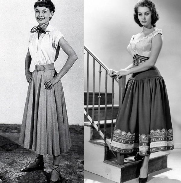 La storia della moda anni  50  dagli abiti alle gonne must have 2bc34a34a76