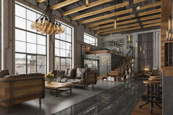 Arredare in stile industriale, il loft di design moderno e alla moda ...
