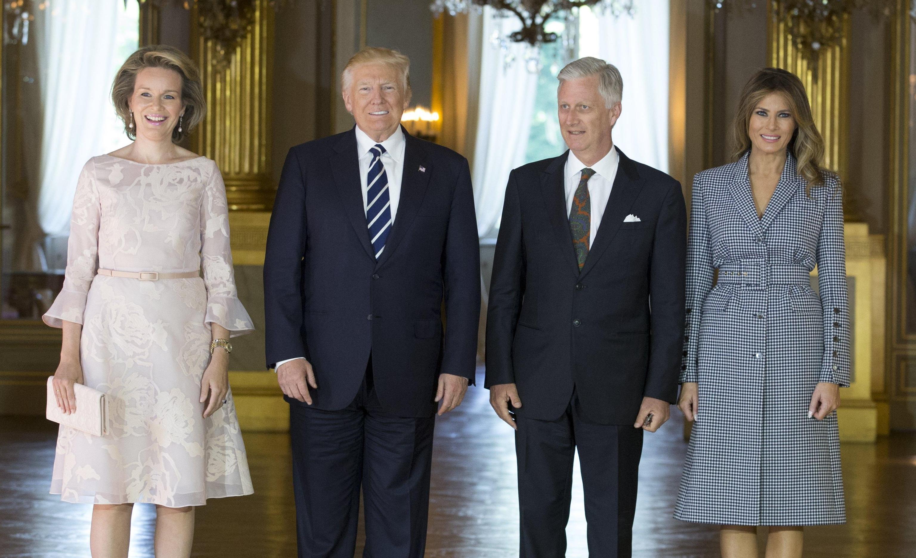US President Donald J. Trump visits Belgium