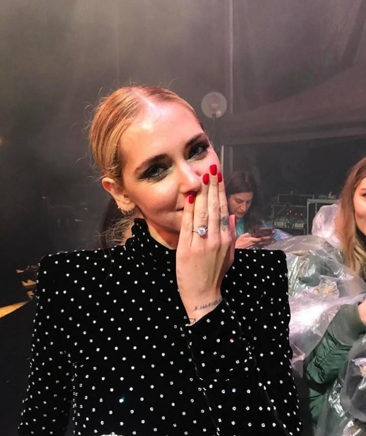 L'anello di fidanzamento di Chiara Ferragni