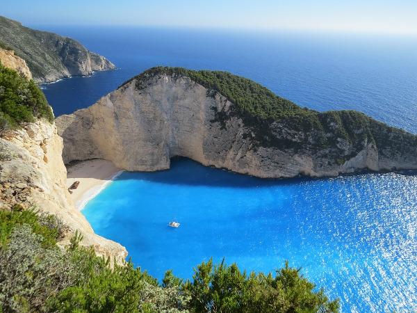 Mare blu Grecia