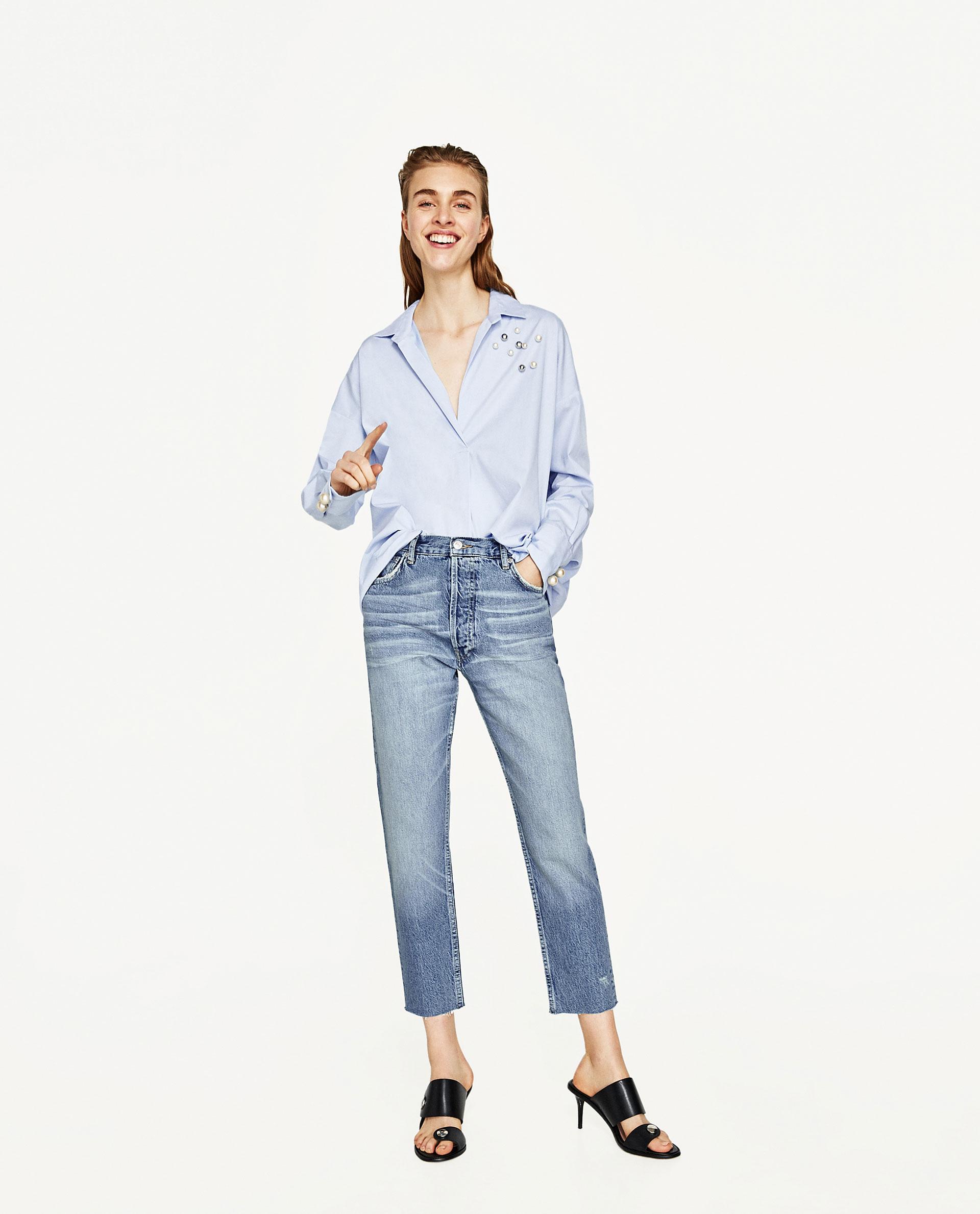 Mom jeans chiari Zara