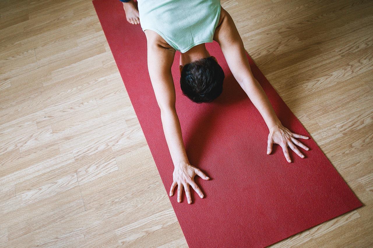 Posizione del cane yoga