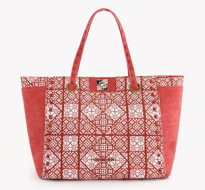 Shopper rossa e bianca