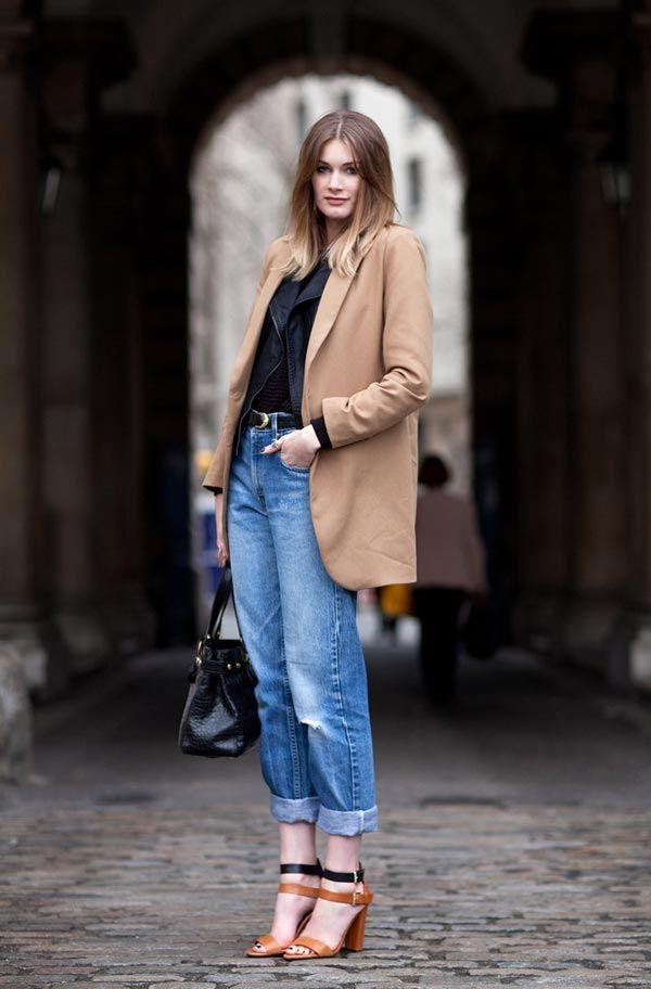 Un abbinamento per i boyfriend jeans