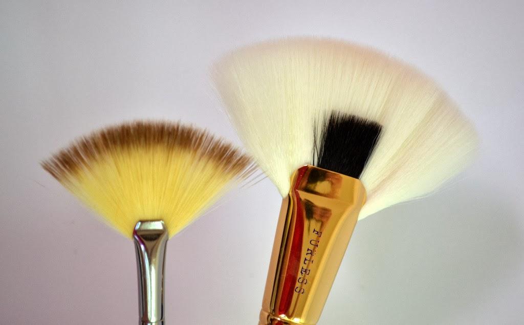 come usare il pennello a ventaglio make up