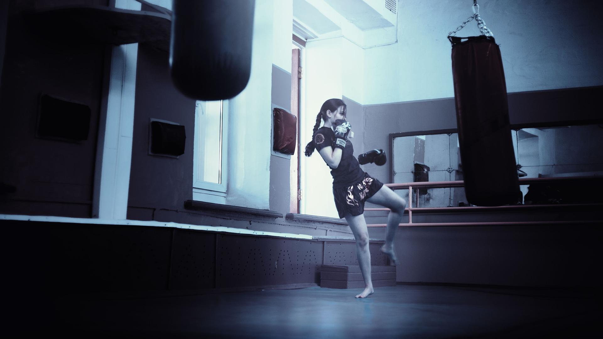 kick boxing femminile allenamento