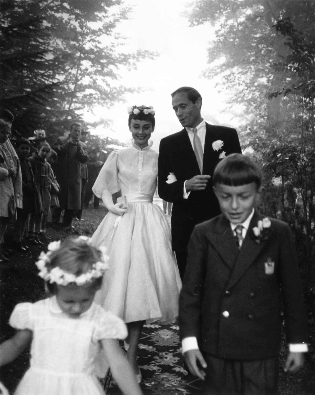l'abito da sposa di audrey hepburn