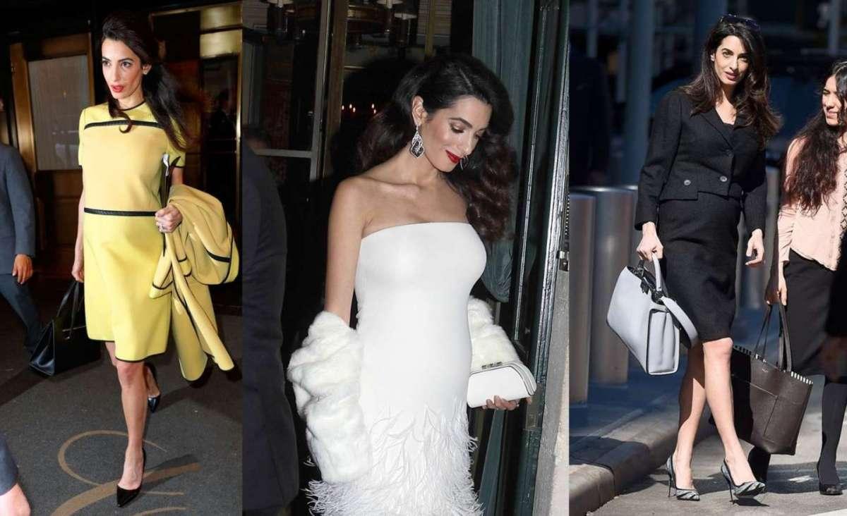 Amal Clooney incinta: lo stile e i look premaman più belli e chic