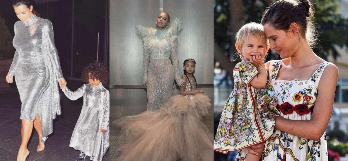 Mamme e figlie vip con lo stesso abito