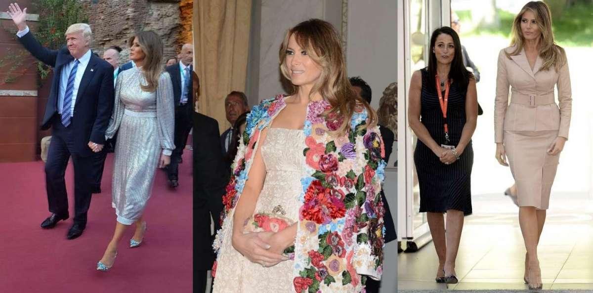 Melania Trump: i look per il primo viaggio da First Lady