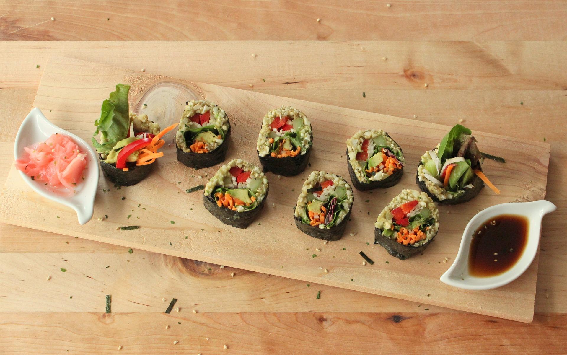 sushi vegan crudista