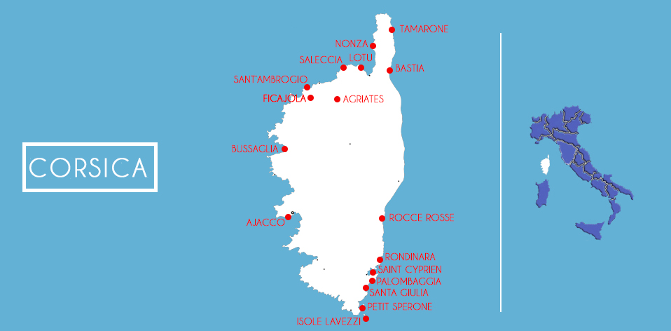 Corsica mappa