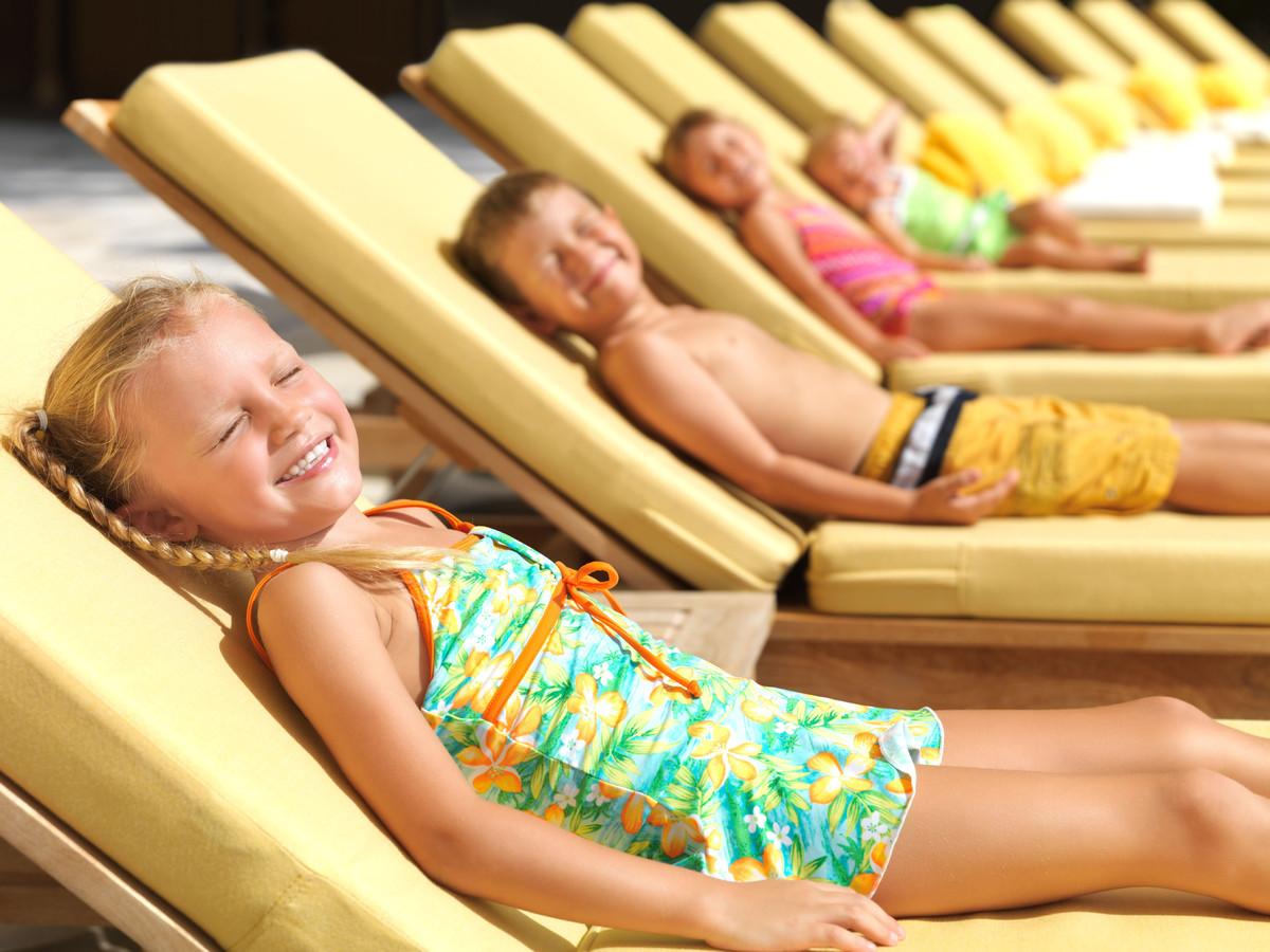 Eritema solare nei bambini