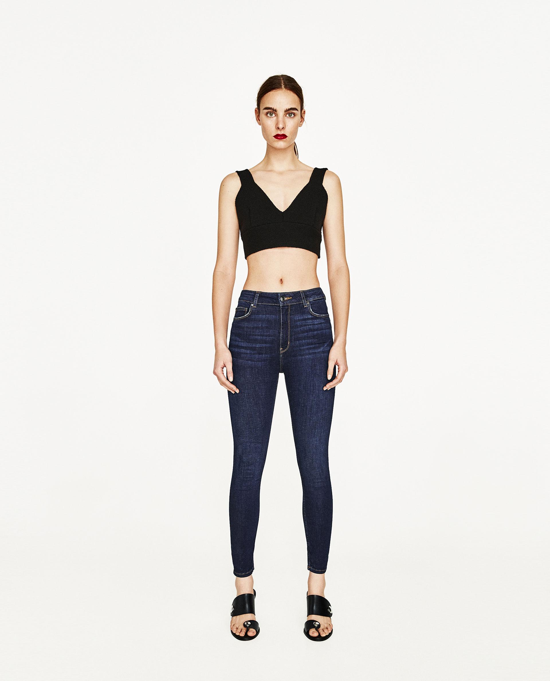Jeans a vita alta Zara