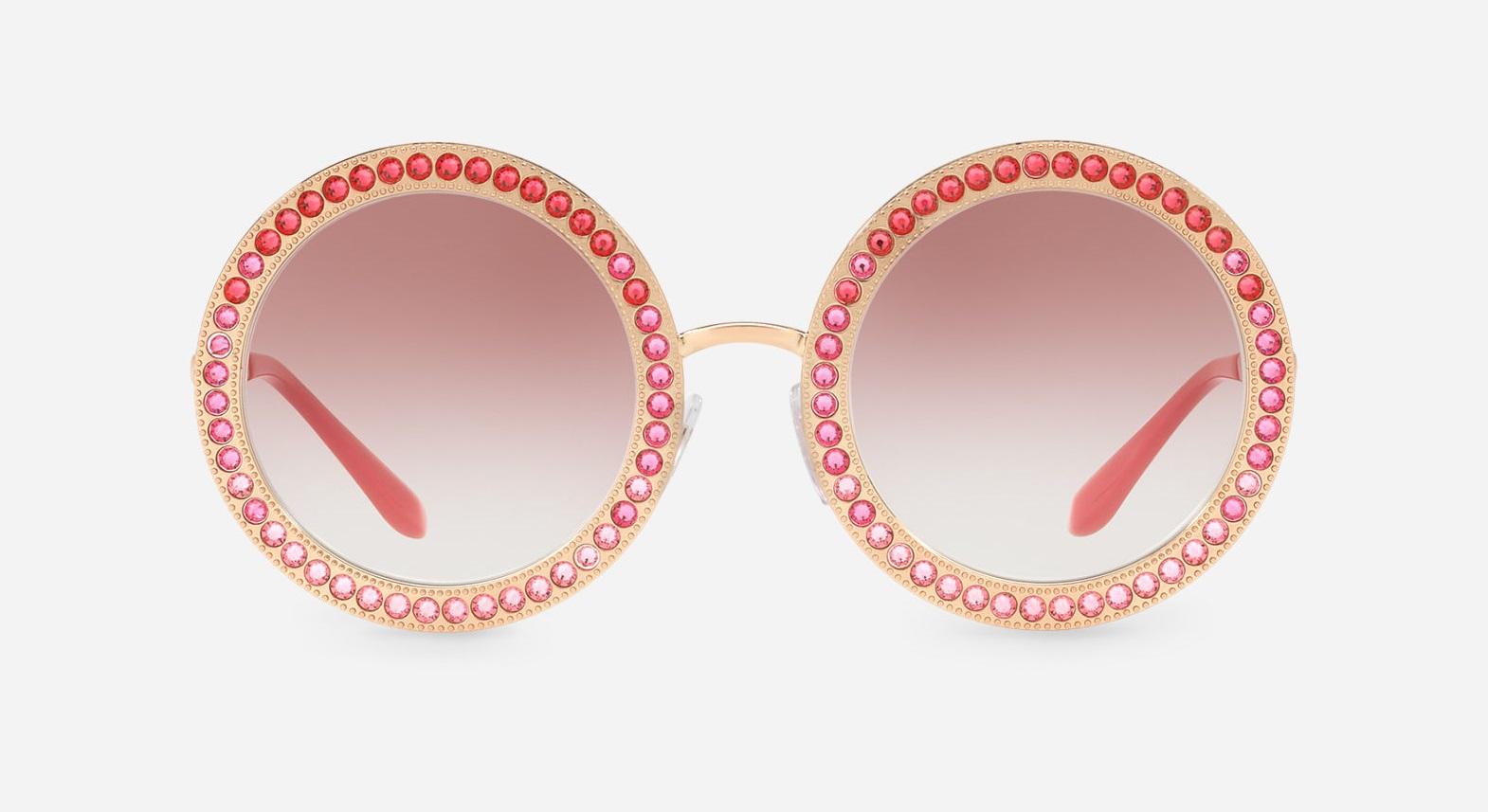 Occhiali da sole con cristalli rossi Dolce & Gabbana