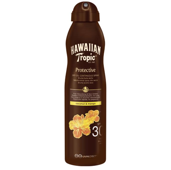 Olio solare secco spray protezione 30 Hawaiian Tropic