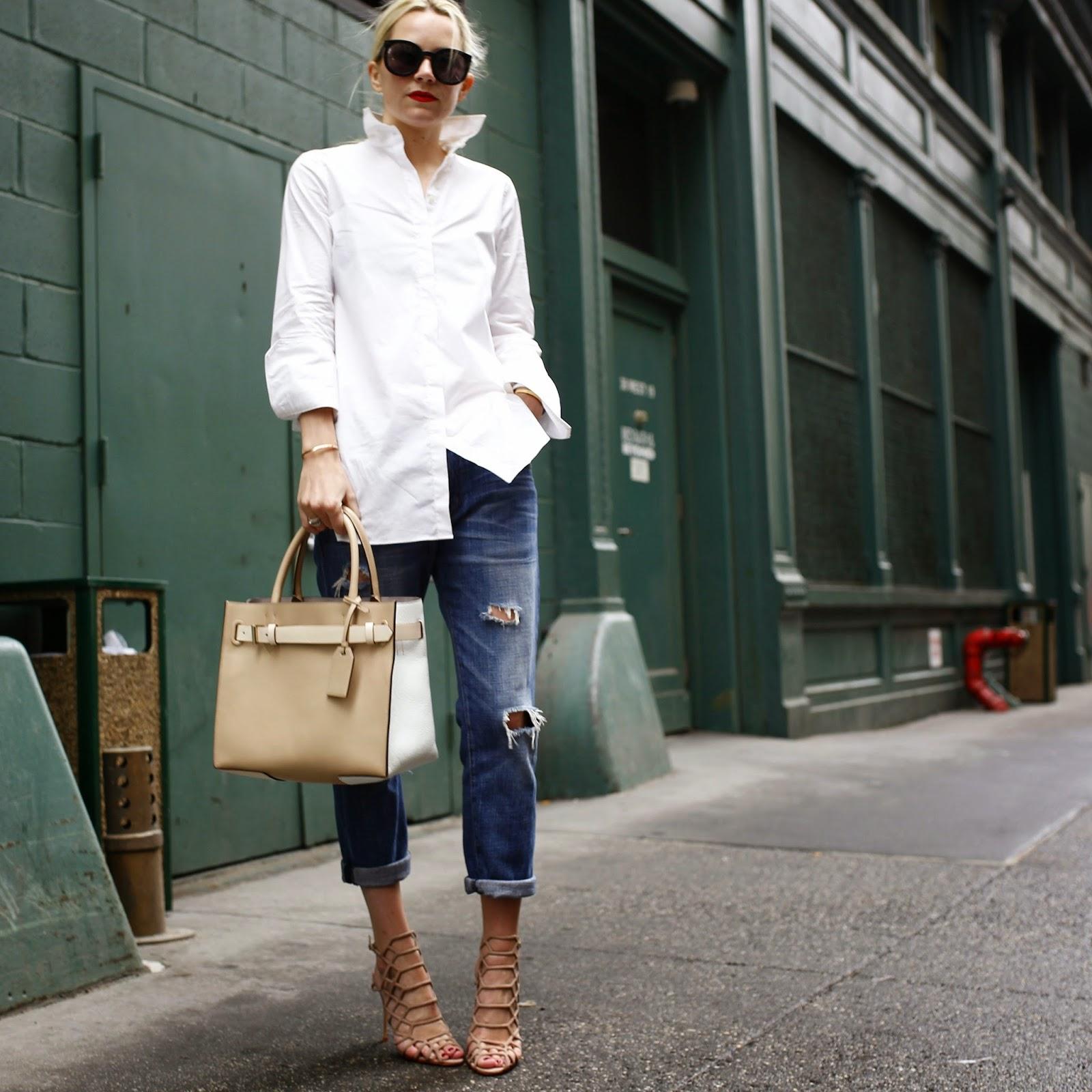 Outfit raffinato con girlfriend jeans