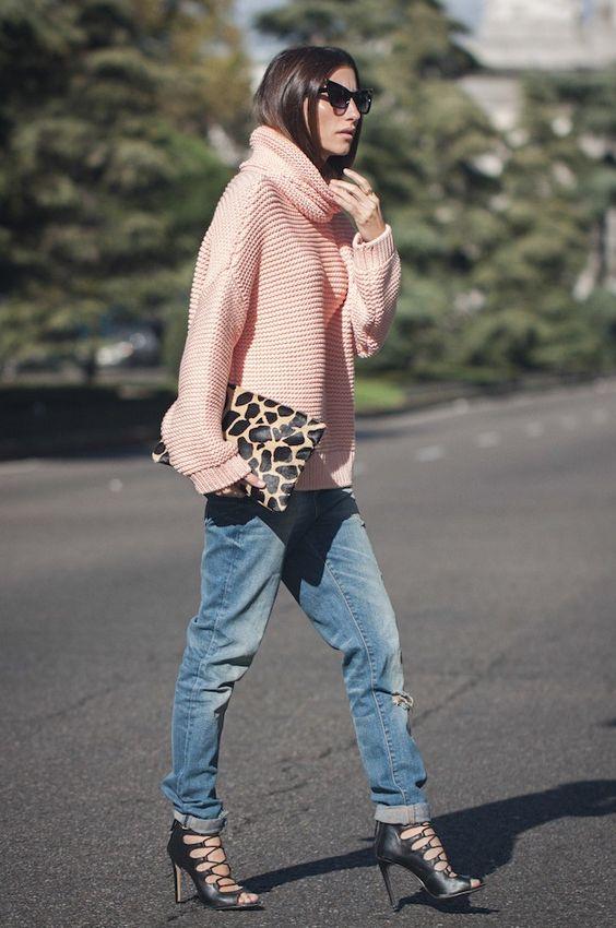 boyfriend jeans e tacchi