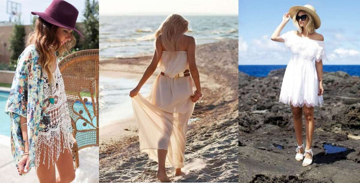 Look per un aperitivo sulla spiaggia  come vestirsi per essere al ... 8c2b1ab7558
