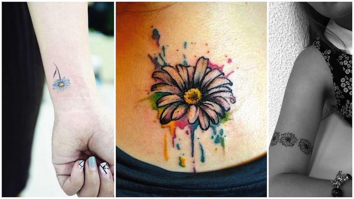 Tatuaggi con la margherita: significato e disegni più belli