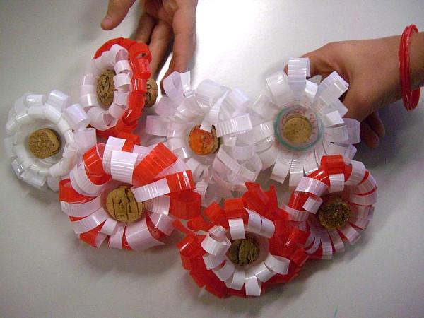 Bicchieri di plastica fiori