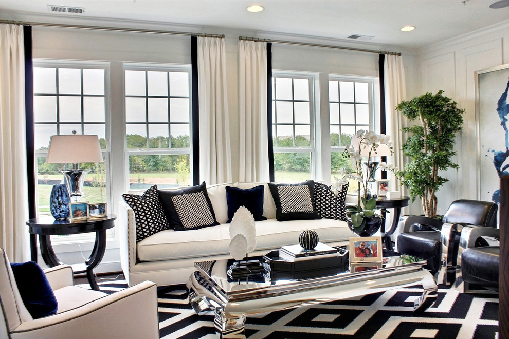 Elegant Black and White Living Room