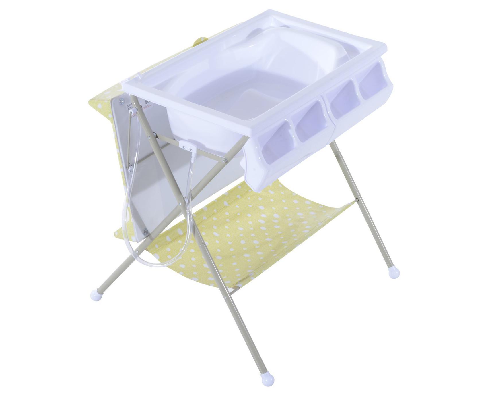 Fasciatoio con vaschetta bagnetto per neonati di Homcom