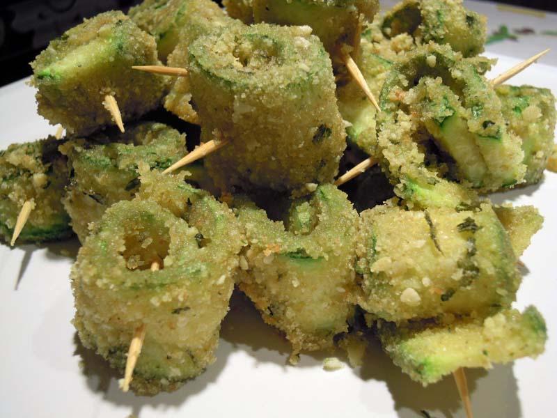 Involtini di zucchine gratinati