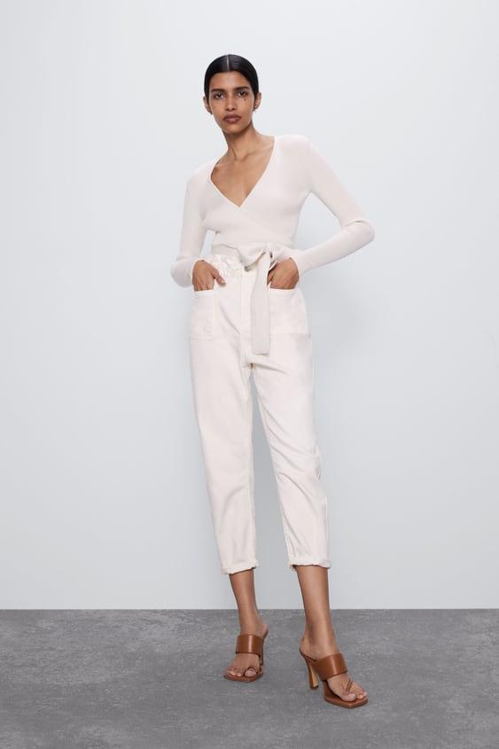 Jeans Zara Baggy Paperbag. Prezzo: 29,95