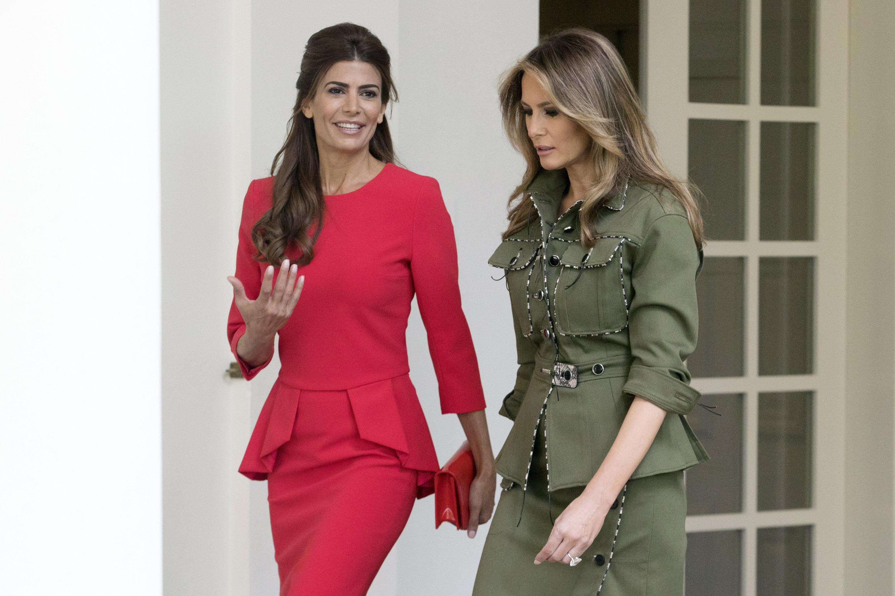 US First Lady Melania Trump and Argentine First Lady Juliana Awada