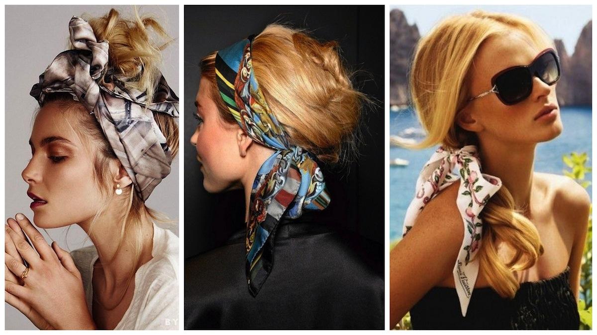 acconciature capelli foulard