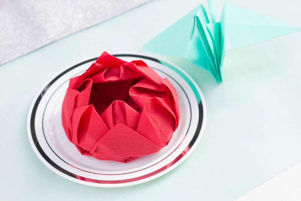 Piegare Tovaglioli Di Carta decorazioni con i tovaglioli: idee originali fai da te