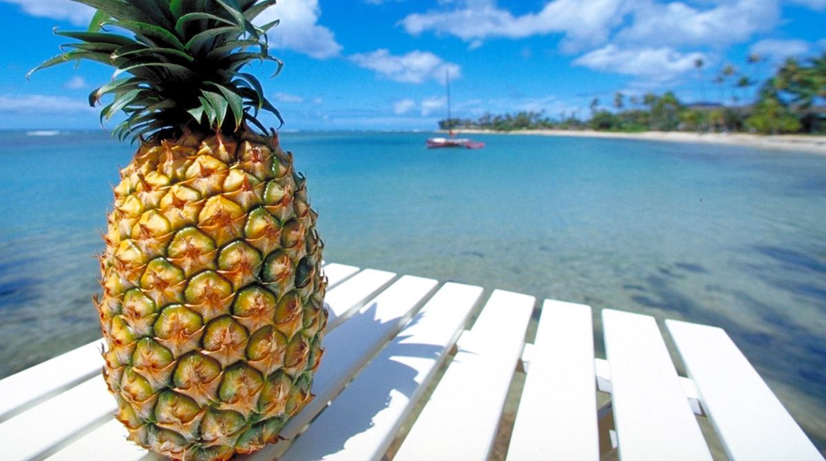 maschera viso abbronzante ananas