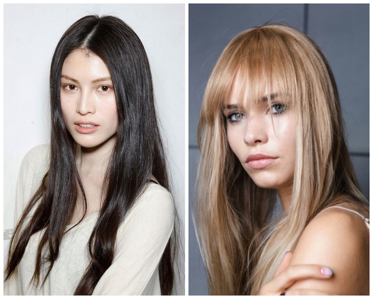 tagli di capelli lunghi lisci