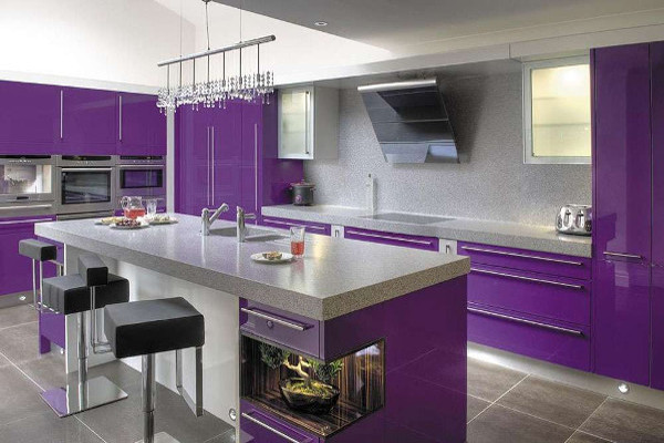 Cucina in viola