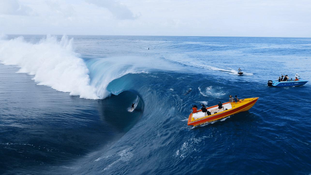 Teahupoo nella Polinesia Francese