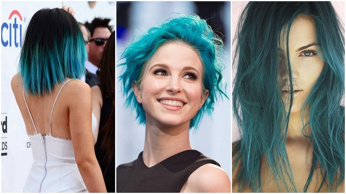 capelli blu turchese
